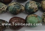 CIJ98 15.5 inches 15*20mm teardrop impression jasper beads wholesale
