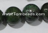 CIS05 15.5 inches 14mm round green iron stone beads wholesale