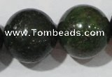 CIS07 15.5 inches 18mm round green iron stone beads wholesale