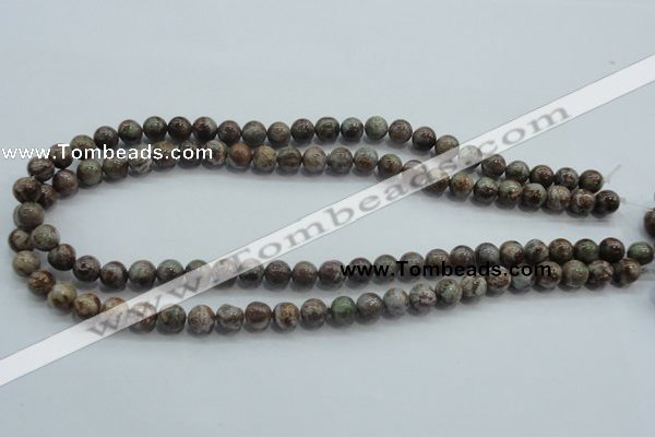 CJA01 15.5 inches 8mm round green jasper beads wholesale