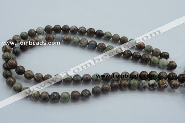 CJA02 15.5 inches 10mm round green jasper beads wholesale