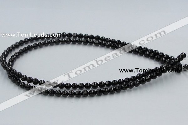 CJB02 16 inches 6mm round natural jet gemstone beads wholesale