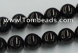 CJB04 16 inches 12mm round natural jet gemstone beads wholesale