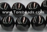 CJB05 16 inches 18mm round natural jet gemstone beads wholesale