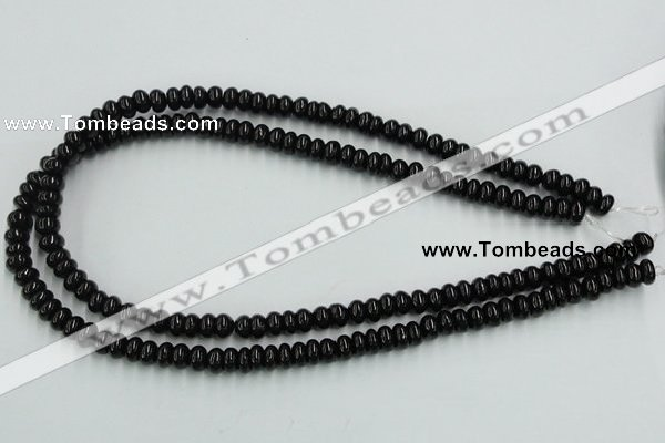 CJB10 16 inches 5*8mm rondelle natural jet gemstone beads wholesale