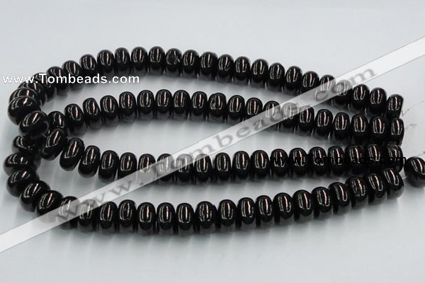 CJB12 16 inches 9*16mm rondelle natural jet gemstone beads wholesale