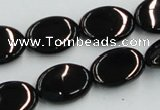 CJB18 16 inches 13*18mm oval natural jet gemstone beads wholesale