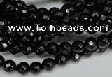 CJB45 15.5 inches 6mm faceted round natural jet gemstone beads