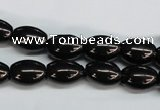 CJB52 15.5 inches 10*14mm rice natural jet gemstone beads