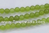 CKA03 15.5 inches 6mm round Korean jade gemstone beads
