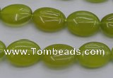 CKA245 15.5 inches 12*16mm oval Korean jade gemstone beads