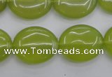 CKA248 15.5 inches 18*22mm oval Korean jade gemstone beads