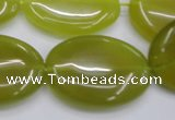 CKA251 15.5 inches 22*30mm oval Korean jade gemstone beads