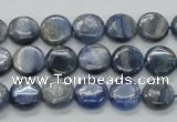 CKC202 15.5 inches 10mm flat round natural kyanite beads wholesale