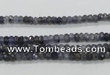 CKC215 15.5 inches 3*4mm faceted rondelle natural kyanite beads