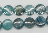 CKC22 16 inches 12mm flat round natural kyanite beads wholesale