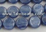 CKC510 15.5 inches 6mm flat round natural Brazilian kyanite beads