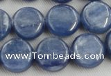 CKC512 15.5 inches 10mm flat round natural Brazilian kyanite beads