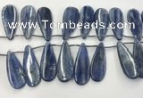 CKC554 Top drilled 12*30mm flat teadrop natural kyanite beads