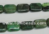 CKC66 15.5 inches 10*14mm rectangle natural green kyanite beads