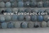 CKC701 15.5 inches 6mm faceted round imitation blue kyanite beads