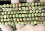 CKC761 15.5 inches 6mm round natural green kyanite beads