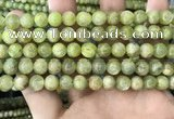 CKC767 15.5 inches 8mm round natural green kyanite beads