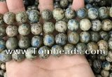 CKJ404 15.5 inches 12mm round k2 jasper beads wholesale