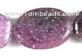 CKU02 15 inches 10*14mm oval purple kunzite beads Wholesale