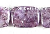 CKU11 15 inches 18*25mm rectangle purple kunzite beads wholesale