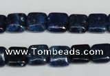 CKU116 15.5 inches 10*10mm square dyed kunzite beads wholesale