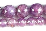 CKU15 15 inches 4mm & 6mm round purple kunzite beads wholesale