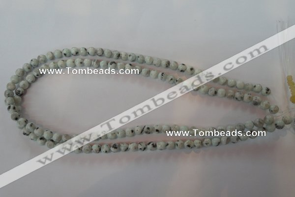 CKW01 15.5 inches 6mm round kiwi jasper gemstone beads