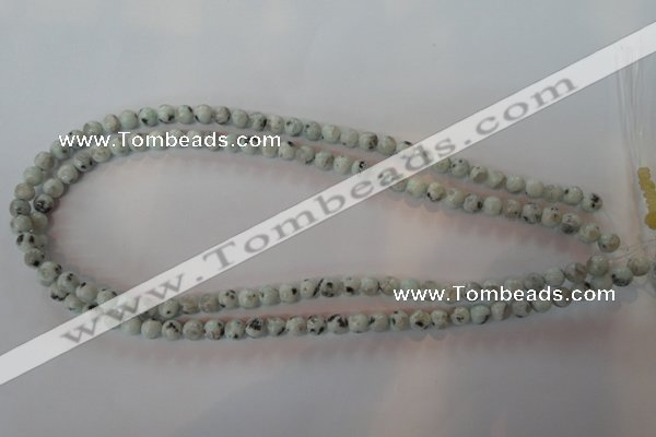 CKW02 15.5 inches 8mm round kiwi jasper gemstone beads