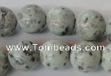 CKW05 15.5 inches 14mm round kiwi jasper gemstone beads