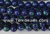 CLA401 15.5 inches 6mm round synthetic lapis lazuli beads
