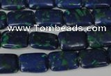 CLA427 15.5 inches 10*14mm rectangle synthetic lapis lazuli beads