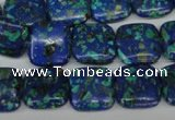 CLA435 15.5 inches 14*14mm square synthetic lapis lazuli beads