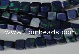 CLA445 15.5 inches 6*6mm square synthetic lapis lazuli beads