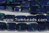 CLA453 15.5 inches 8*10mm rectangle synthetic lapis lazuli beads