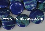 CLA460 15.5 inches 18mm flat round synthetic lapis lazuli beads