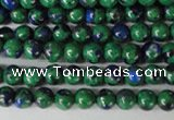 CLA478 15.5 inches 4mm round synthetic lapis lazuli beads