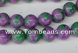 CLA491 15.5 inches 10mm round synthetic lapis lazuli beads