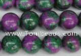 CLA493 15.5 inches 14mm round synthetic lapis lazuli beads