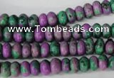CLA498 15.5 inches 5*8mm rondelle synthetic lapis lazuli beads