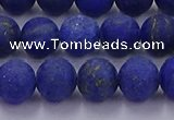 CLA72 15.5 inches 8mm round matte lapis lazuli beads wholesale