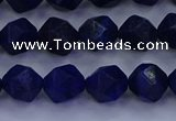CLA82 15.5 inches 8mm faceted nuggets dyed lapis lazuli beads