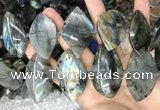 CLB1003 15.5 inches 18*35mm - 25*45mm freeform labradorite beads