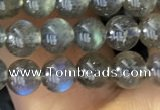 CLB1015 15.5 inches 5mm round labradorite gemstone beads