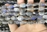 CLB1042 15.5 inches 10*14mm faceted oval labradorite beads wholesale